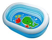 """Детский надувной бассейн Intex """"Нежность"""" овальный, 3 кольца"""