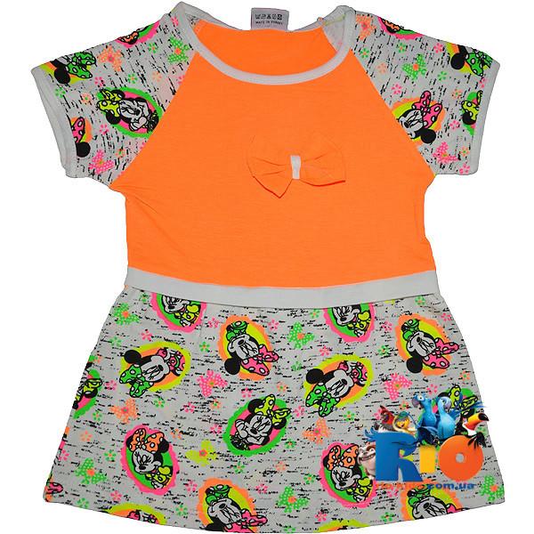 """Платье """"Минни Маус"""" , из трикотажа , для девочек от 1-2-3-4 лет"""