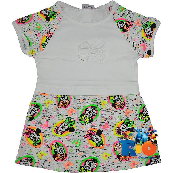 """Детское  платье """"Минни Маус"""", трикотаж , для девочек от 5-6-7-8 лет"""