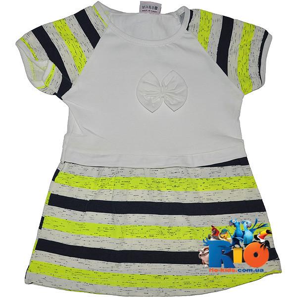 """Детское  платье """"Неоновая полоска"""" , трикотаж , для девочки от 5-6-7-8 лет"""