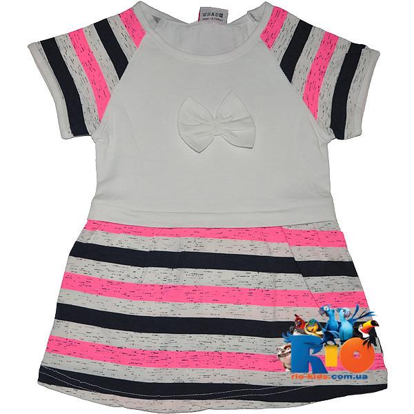 """Детское  платье """"Неоновая полоска"""" , трикотаж , для девочек от 5-6-7-8 лет"""