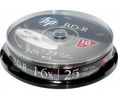 BD-R (Blu-Ray) HP 25Gb 6х Cake 10