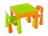 Детский стол MAMUT TEGA+ 2 стула цвет оранжево-зеленый оригинал