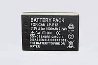 Аккумулятор для фотоаппаратов CANON EOS M, M2, M3, M10, M50,M100, 100D - LP-E12 (аналог) - 1000 ma