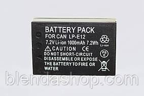 Аккумулятор для фотоаппаратов CANON EOS M, M2, M3, M10,M100, 100D - LP-E12 (аналог) - 1000 ma