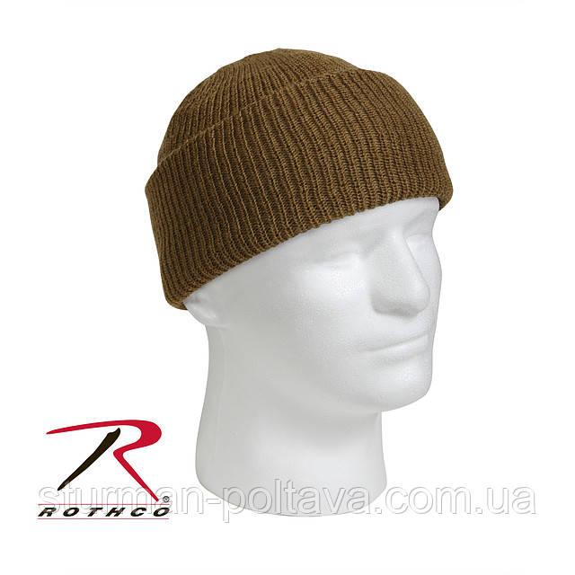 Шапка мужская шерстяная  Wool Watch Cap 100% шерсть  цвет   койот   ROTCHO США