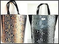 Большие сумки под питона от Мango