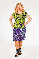 Женское летнее платье большого размера из батиста