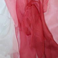 Тюль Микровуаль с переходом белого в цвет вишни + высококачественный пошив