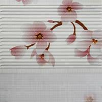 Рулонные шторы День-ночь Ткань Сакура Лиловый