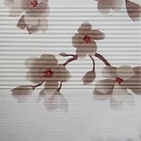 Рулонные шторы День-ночь Ткань Сакура Ореховый