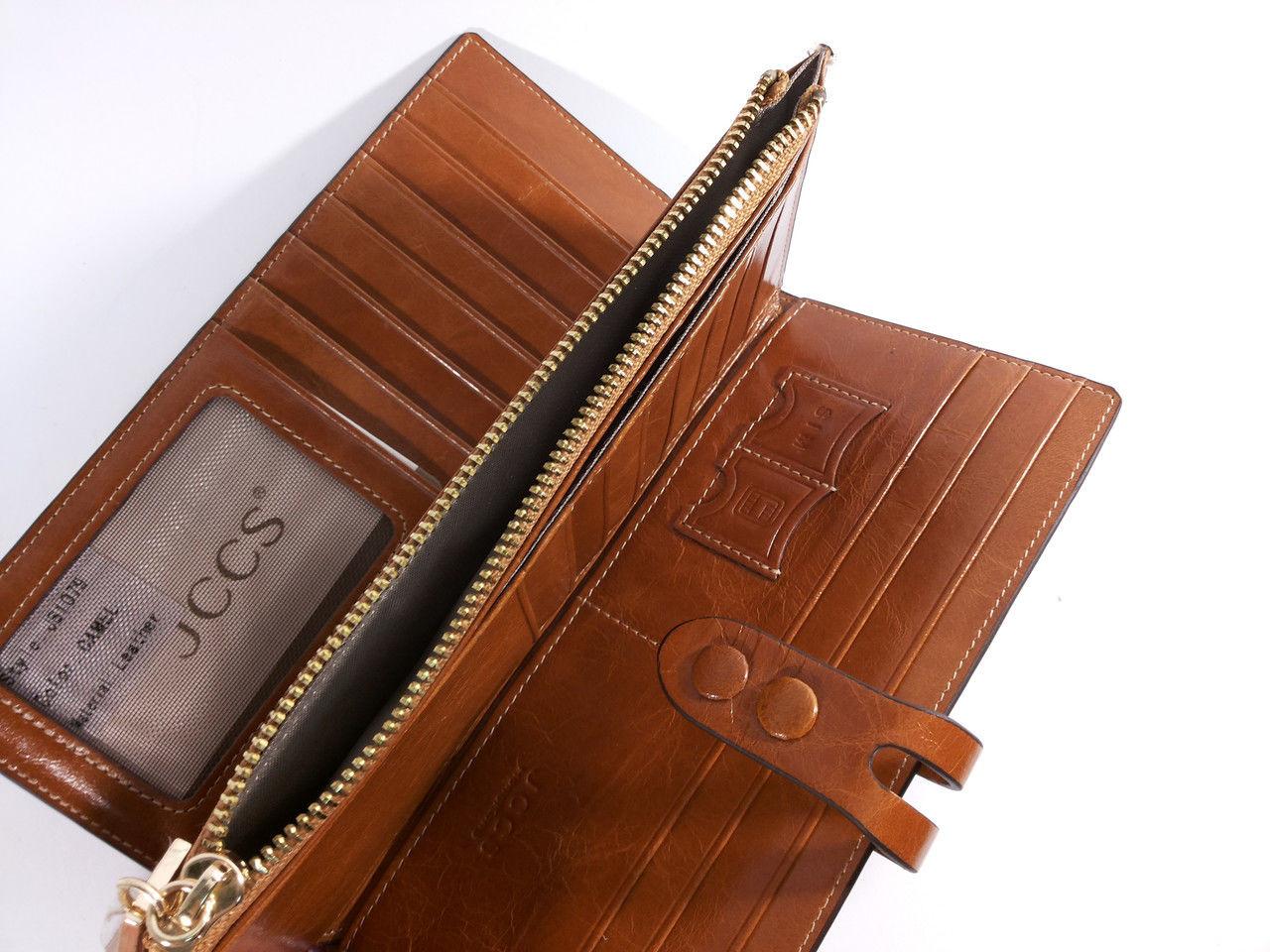 96ed35d419ff Кошелек кожаный женский коричневый JCCS 1079 - купить по лучшей цене ...