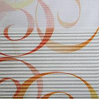 Рулонные шторы День-ночь Ткань Кармен Оранж