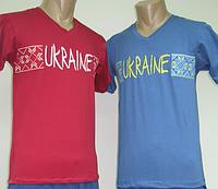 Мужская трикотажная футболка вышиванка, фуликра, р.р. 40-62