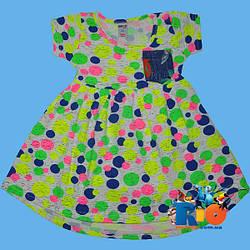 """Детское  платье """"Неоновое Сердце"""", трикотаж , для девочек от 1-2;3-4;5-6;7-8;9-10 лет"""