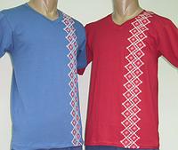Мужская футболка вышиванка 762, вискоза, р.р. 40-62.