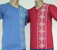 Мужская футболка вышиванка 760, вискоза, р.р. 40-54