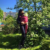 Слинг шарф трикотажный Love & Carry — Гранат (фото клиентки), фото 1