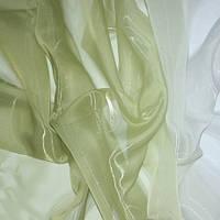 Тюль Микровуаль с переходом белого в цвет фисташки + высококачественный пошив
