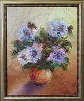 «Лиловые розы» картина маслом, фото 1