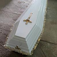 Гроб - лакированный Белый МДФ, сайт:  Orfey1.com