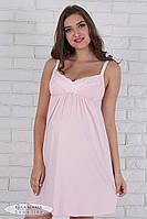 Красивая ночная сорочка для беременных и кормящих мам Monika NW-2.2.1, розовая, фото 1