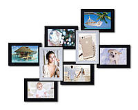 Пластиковая мультирамка на 8 фото Мечта, черно-белая