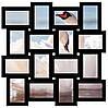 Деревянная мультирамка на 16 фото Классика 16, черная