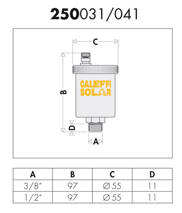 купить автоматический воздухоотводчик caleffi solar