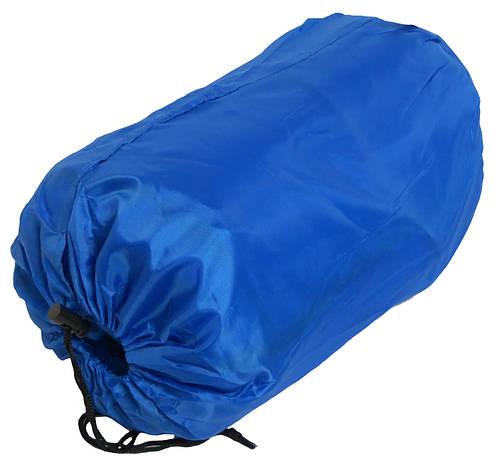 Спальный мешок с капюшоном синий, сезон весна-осень.