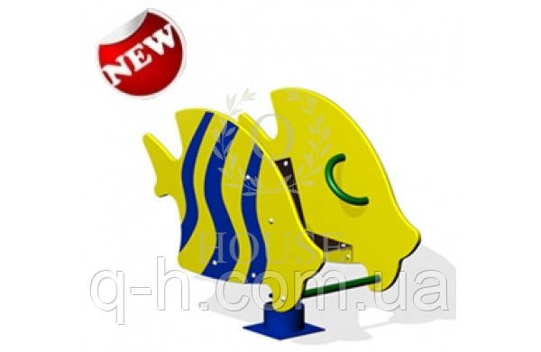 Качалка на пружинке рыбка, фото 2