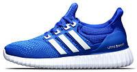 Мужские кроссовки Adidas Ultra Yeezy Boost Blue/White, адидас