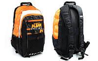 Моторанец с местом под питьевую систему KTM MS-5021 (PL, р-р 45х25х12см, черный-оранжевый)