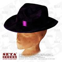 Гангстерская шляпа фиолетовая