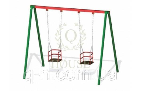 Качели на цепях двойные, фото 2