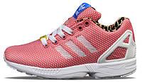 Женские кроссовки Adidas ZX Flux Pink/White, адидас