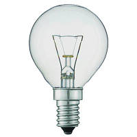 Лампа PHILIPS P45 40W Е14, шар прозрачный