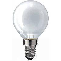 Лампа PHILIPS P45 40W Е14, шар матовый