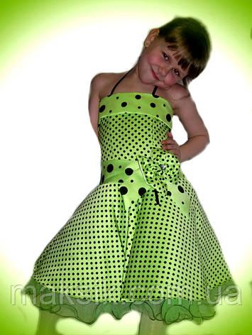Прокат. Шикарное салатовое платье в горох, фото 2