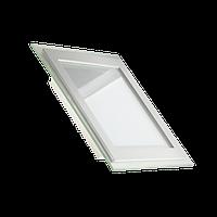 Светодиодный LED светильник 12W Glass Rim 4000K квадрат