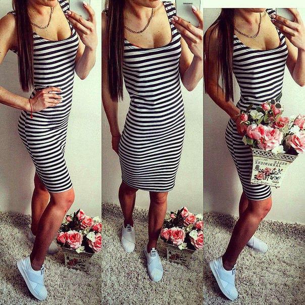 6cec5915923 Платье летнее в полоску удлиненное - Интернет магазин женской одежды