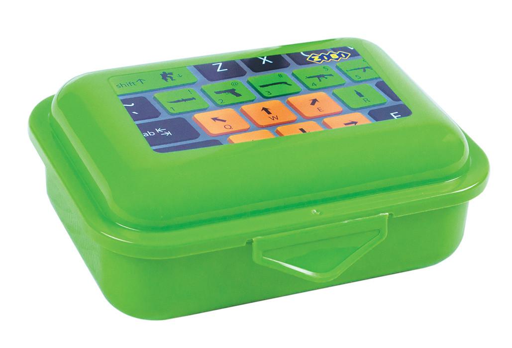 Контейнер для еды ZiBi 280мл ланчбокс клавиатура салатовый ZB.3050-15