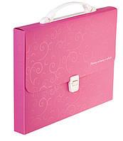 Портфель BUROMAX Barocco 210x297x35мм 1 отделение пластик замок розовый (BM.3719-10)