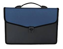 Портфель BUROMAX 32,5x24x3,5см 3 отделения пластик замок черный (BM.3734-02)