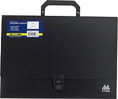 Портфель BUROMAX 210x297x35мм 1 отделение пластик замок черный (BM.3724-01)