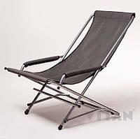 Кресло Качалка с откидывающие спинкой до 110 кг (сталь и ткань) в чехле
