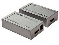 Удлинитель HDMI сигнала по витой паре до 60метров (MT-ED03)