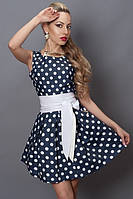 Джинсовое летнее платье в горошек, фото 1