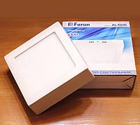 Світильник світлодіодний накладний Feron AL505 6w 5000К (LED панель), фото 1