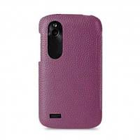 Melkco Snap leather cover for HTC Desire V/Desire X, purple (O2DESVLOLTPELC)